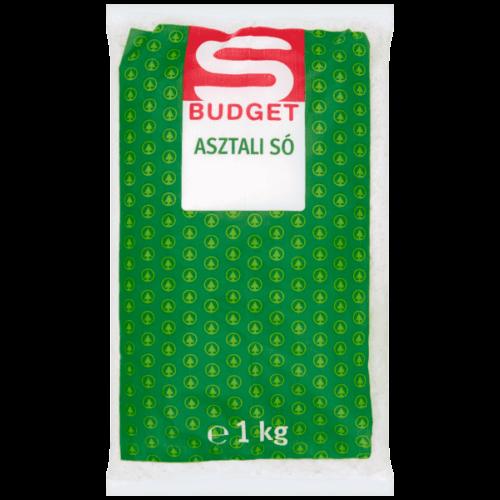S-BUDGET ASZTALI SÓ 1 KG