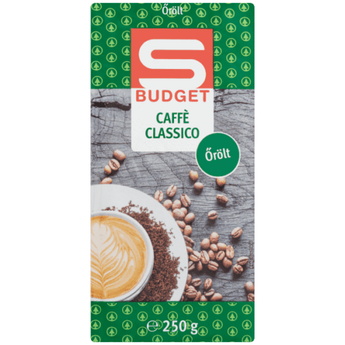 S-BUDGET CAFFÉ CLASSICO ŐRÖLT PÖRKÖLT KÁVÉ 250 G