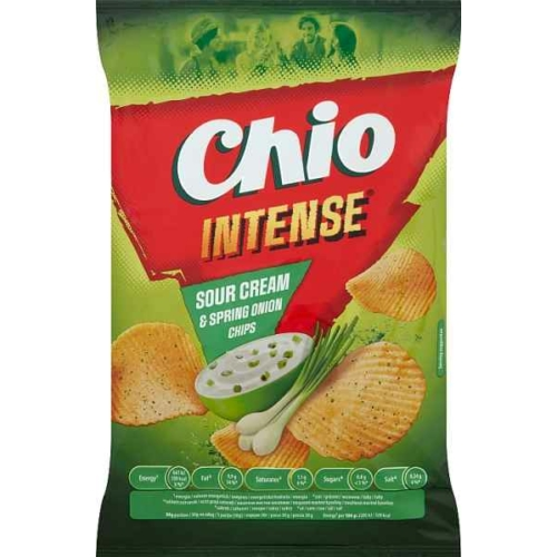 CHIO INTENSE SOUR CREAM&SPRING ONION CHIPS 65G
