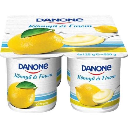 DANONE JOGHURT CITROMOS 4X125G