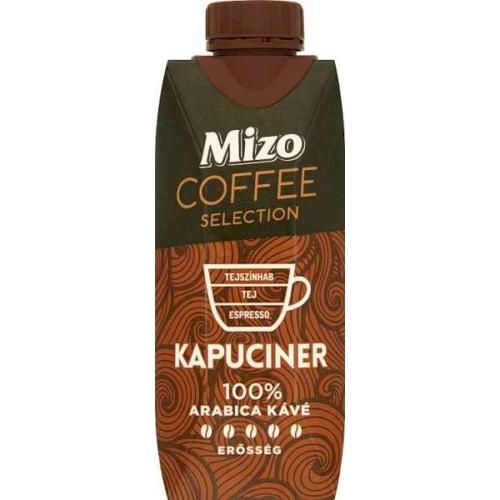 MIZO COFFEE SELECTION KAPUCINER UHT FÉLZSÍROS KÁVÉS TEJ 330 ML