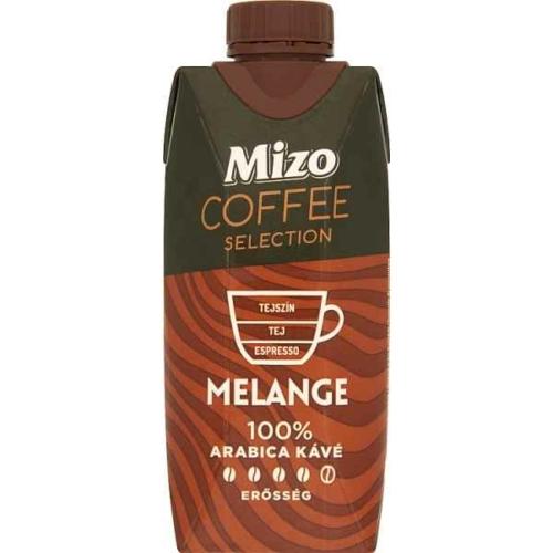 MIZO COFFEE SELECTION MELANGE UHT FÉLZSÍROS KÁVÉS TEJ 330 ML