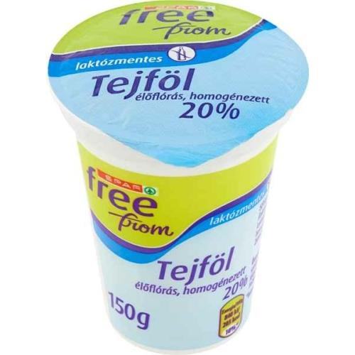 SPAR FREE FROM LAKTÓZMENTES TEJFÖL 20% 150G
