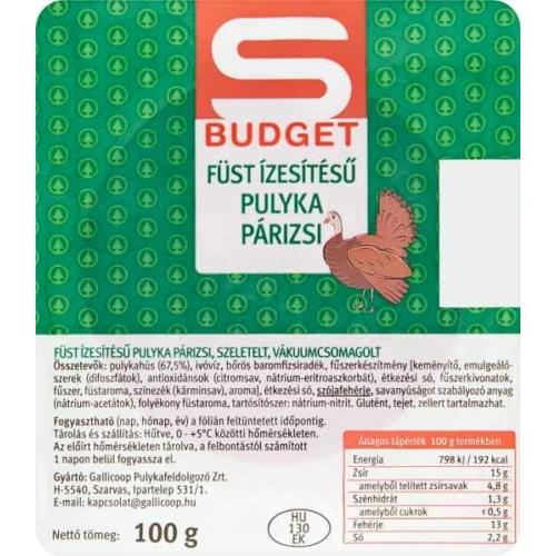 S-BUDGET PULYKA PÁRIZSI 100G