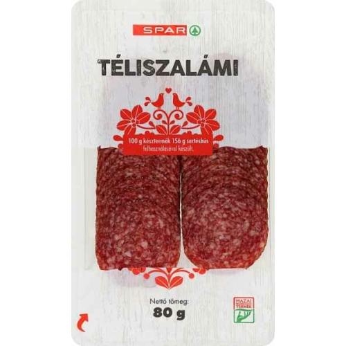 SPAR TÉLISZALÁMI 80G