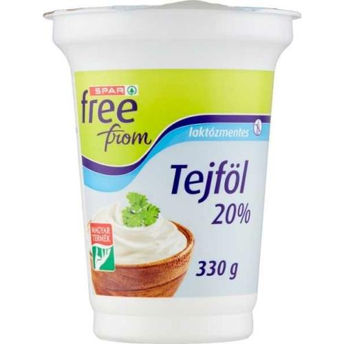 SPAR FREE FROM LAKTÓZMENTES TEJFÖL 20% 330 G