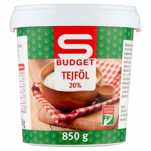S-BUDGET TEJFÖL 20% 850 G