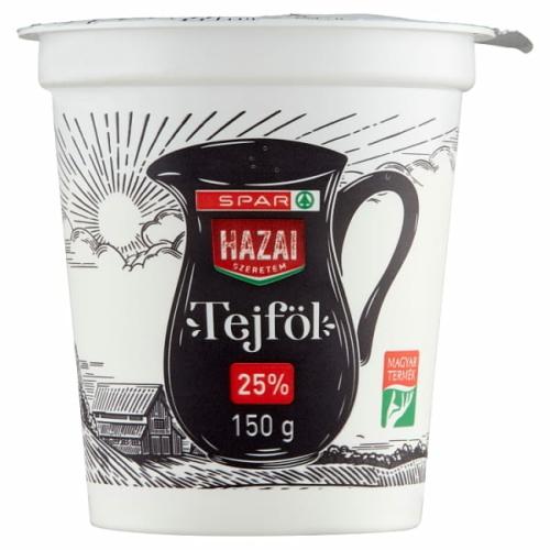 SPAR HAZAI SZERETEM TEJFÖL 25% 150 G
