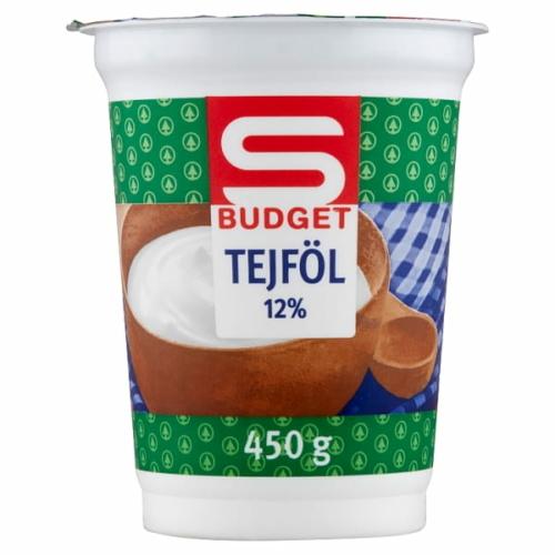 S-BUDGET FÉLZSÍROS TEJFÖL 12% 450 G