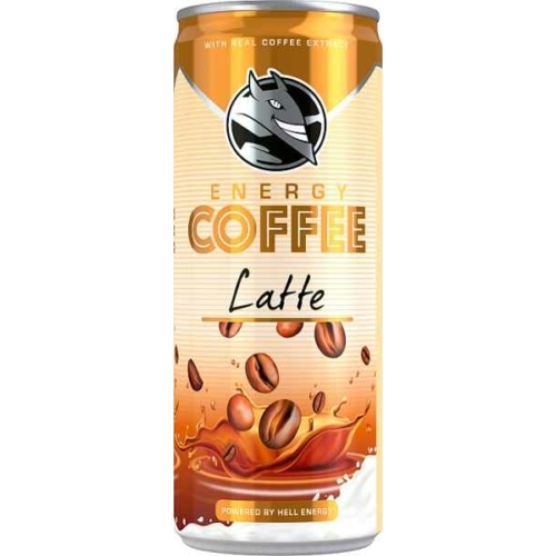 HELL ENERGY COFFEE LATTE 250ML