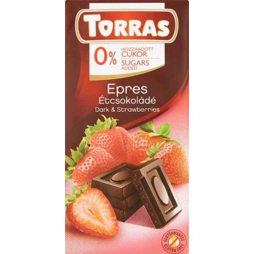 TORRAS EPRES ÉTCSOKOLÁDÉ CUKORMENTES 75G