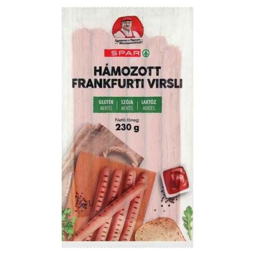 SPAR HÁMOZOTT FRANKFURTI VIRSLI 230G