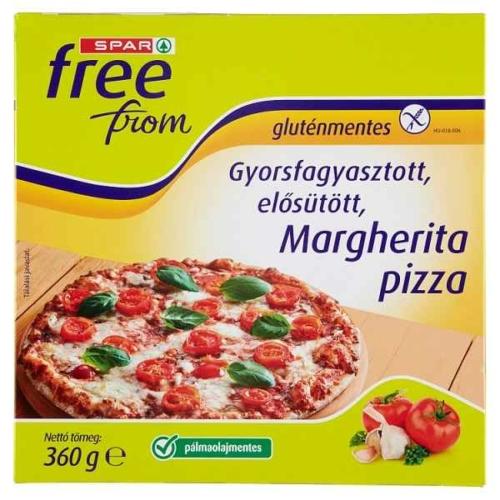SPAR FREE FROM MARGHERITA PIZZA GLUTÉN-, LAKTÓZ MENTES 360G