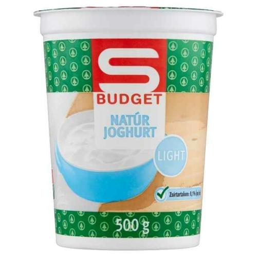 S-BUDGET LIGHT NATÚR JOGHURT 500 G