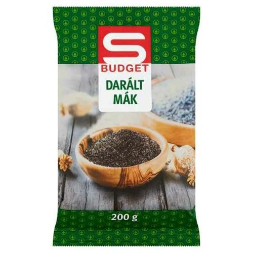 S-BUDGET DARÁLT MÁK 200G