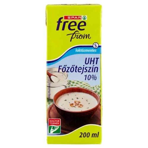 SPAR FREE FROM UHT LAKTÓZMENTES FŐZŐTEJSZÍN 10% 200 ML